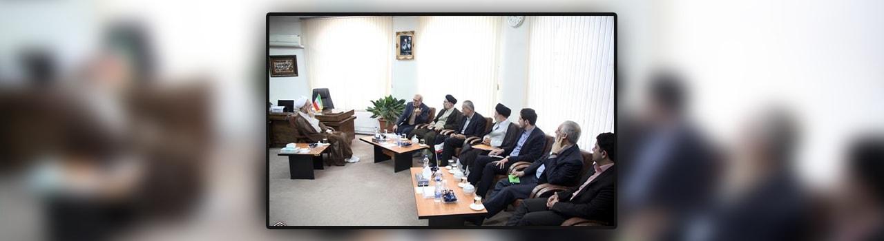 دیدار رئیس هیات عامل صندوق نوآوری و شکوفایی و مدیران صندوق کریمه با آیتالله اعرافی