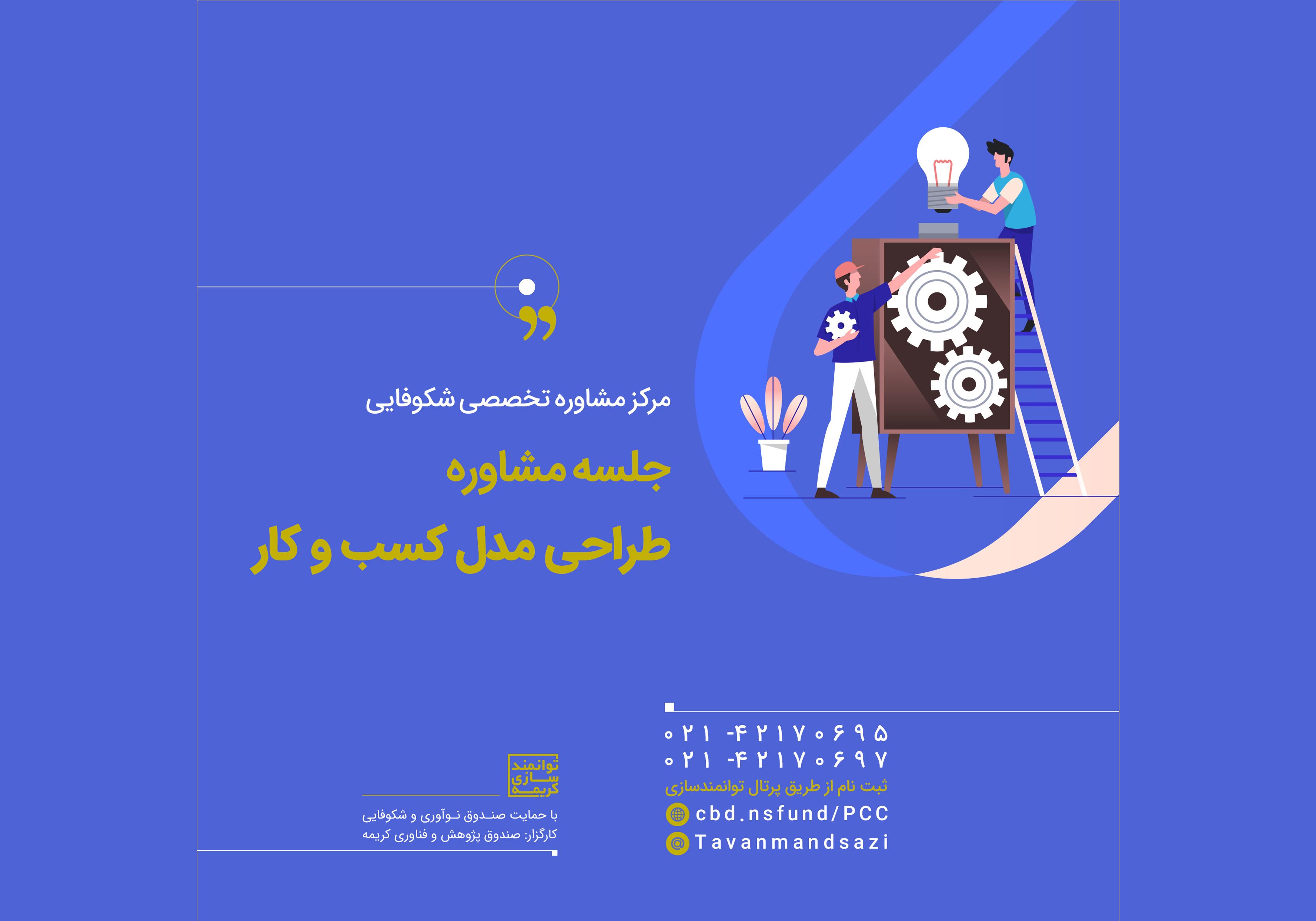 برگزاری جلسات مشاوره تخصصی در حوزه طراحی مدل کسب و کار