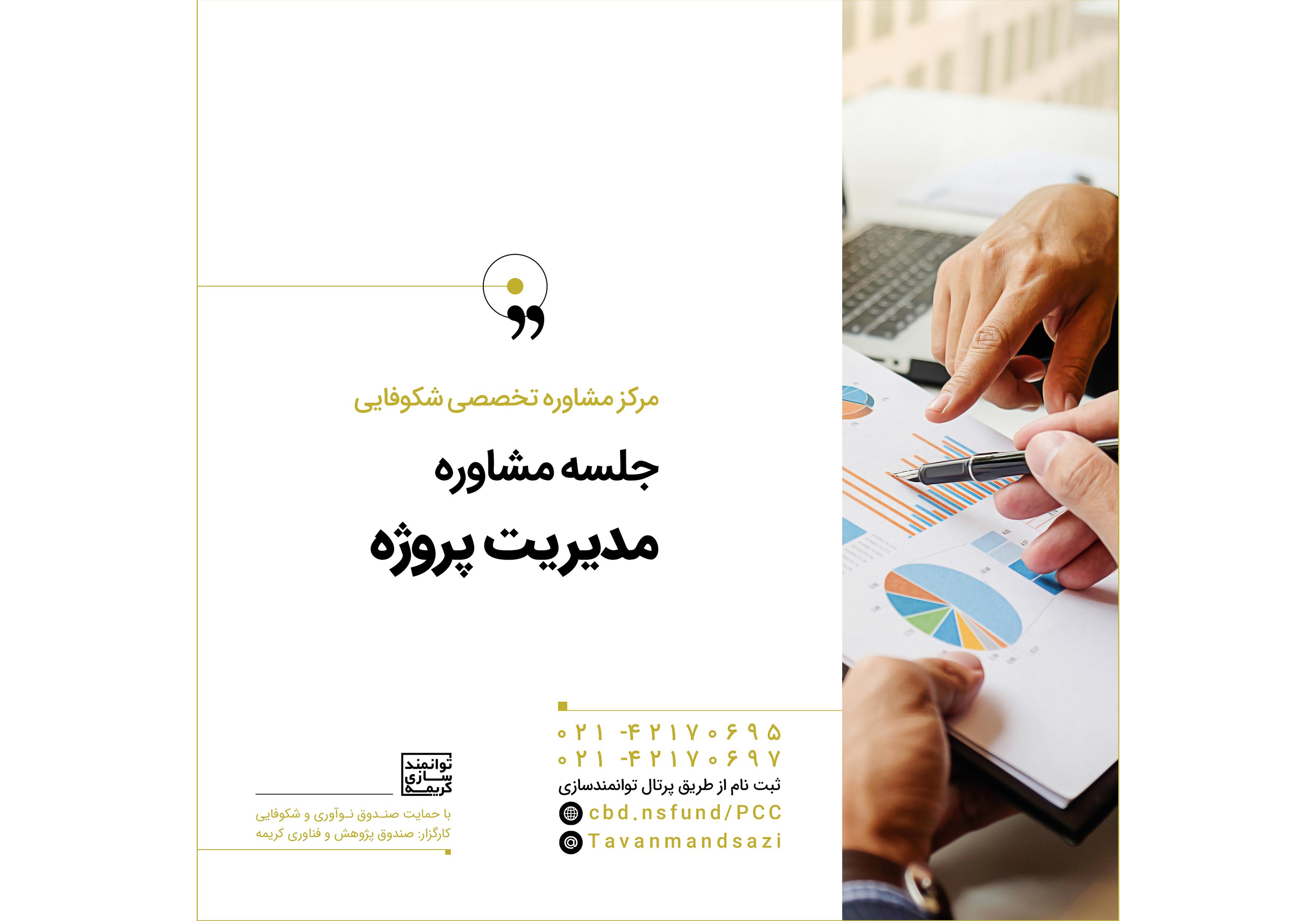 برگزاری جلسات مشاوره تخصصی در حوزه مدیریت پروژه